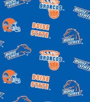 Boise State NCAA  Fleece Fabric
