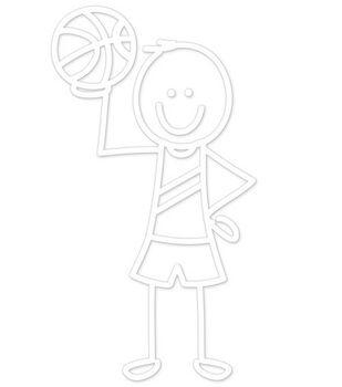 Plaid® Me&My Peeps Family Auto Decal-Basketball Boy