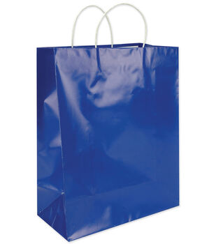 Clay Coated Gift Bag W/White Handle Large-12PK MANY COLORS