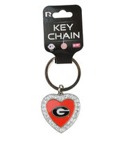 University of Georgia NCAA Heart Keychain, , hi-res