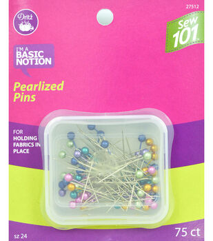 """Dritz 1.5"""" Sewing 101 Pearlized Pins 75pcs Size 24"""
