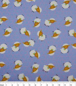 Nursery Cotton Fabric-Rhymes Blue Sheep
