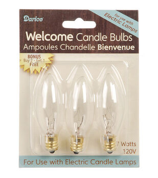 Hudson 43™ Candle&Light Collection Elec Candle Bulb 7 Watt - 3 Pack