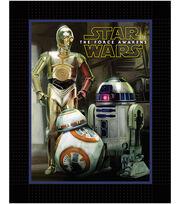 Star Wars VII Droids No Sew Fleece Throw, , hi-res