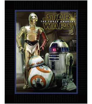 Star Wars VII Droids No Sew Fleece Throw