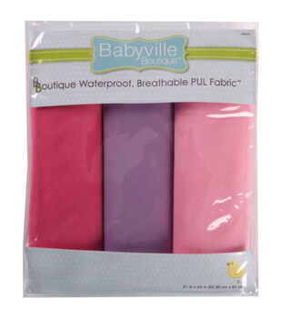 "Babyville Boutique 21""x24"" Solid Waterproof Diaper Fabric Girl"