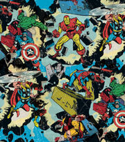 Marvel Retro Smashing Cotton Fabric, , hi-res