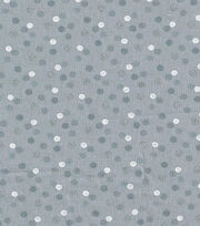 Keepsake Calico™ Cotton Fabric-Polka Dots Gray w/Silver Metallic, , hi-res