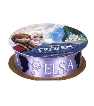 """Frozen Ribbon 7/8""""x9'-Elsa Silhouette"""