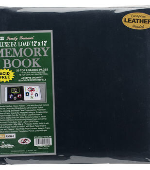 "Pioneer® Deluxe 12""x12"" Bonded Leather Scrapbook Album"