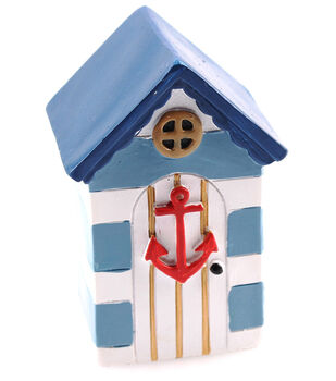 Fairy Garden Beach House With Blue Roof