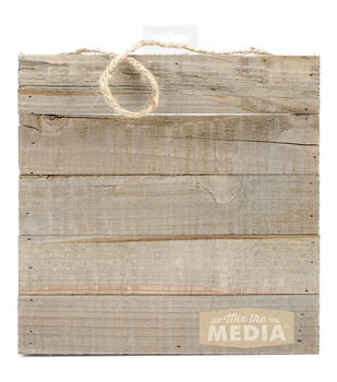 """Mix The Media Wooden Plank Plaque-10""""X10"""""""