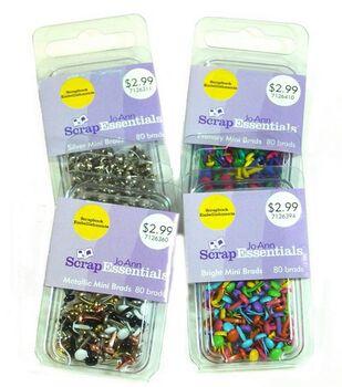 Jo-Ann Scrap Essentials 1/8'' Mini Brads