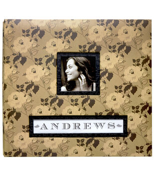 "K&Company Antiqued Flowers Frame-A-Name 12""x12"" Scrapbook"