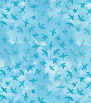 Keepsake Calico™ Cotton Fabric-Tonal Birds Blue Lt, , hi-res