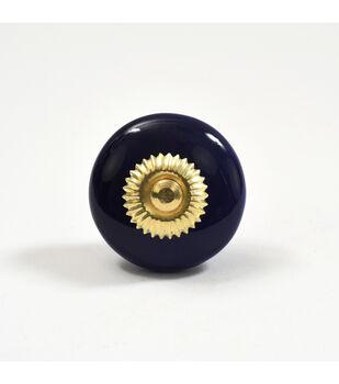 Dritz Home Ceramic Disk Knob-Cobalt Blue