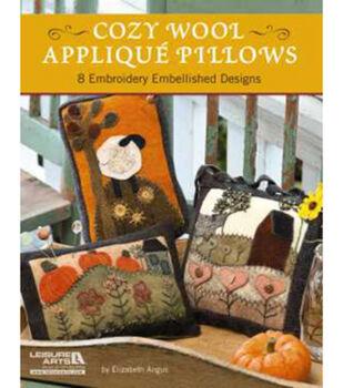 Leisure Arts-Cozy Wool Applique Pillows