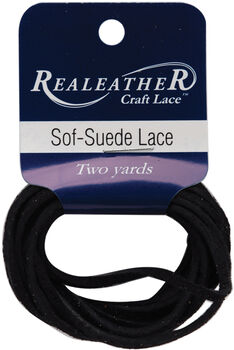"Sof-Suede Lace .094"" Carded 2yd-Gothic Black"