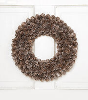 Blooming Holiday 14'' Pinecone Wreath, , hi-res