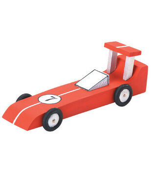 Darice Wood Model Kit-Race Car