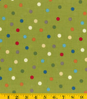 Nursery Fabric- Jungle Babies Multi Dot, , hi-res
