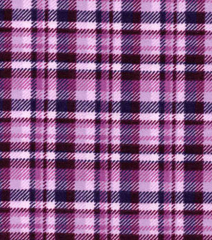 Snuggle Flannel Fabric - Purple Plaid