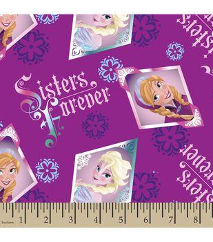 Disney Frozen Sisters Floral Cotton Fabric