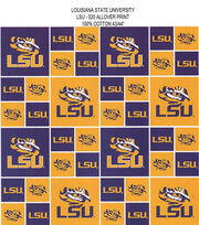 Louisiana State University NCAA  Cotton Fabric, , hi-res