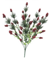 Blooming Holiday 19'' Berry, Pine & Eucalyptus Bush-Red, , hi-res