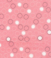 Cloud 9 Organic Cotton Knit Fabric-Circles Pink, , hi-res