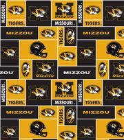 University of Missouri NCAA Block Fleece Fabric, , hi-res