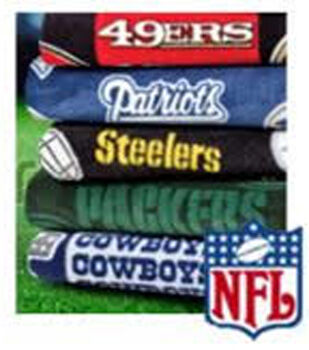 Assorted NFL Fleece Remnants-10yds