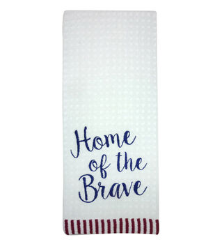 Sea To Shining Sea Waffle Terry Towel-Home Of The Brave