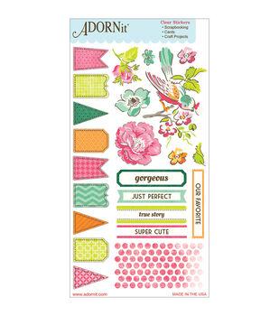 Adorn-It Viva La Glam Clear Stickers Gorgeous