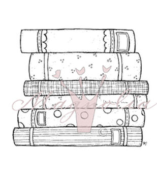 Magnolia So Heavenly/School/Travel Cling Rubber Stamp Books