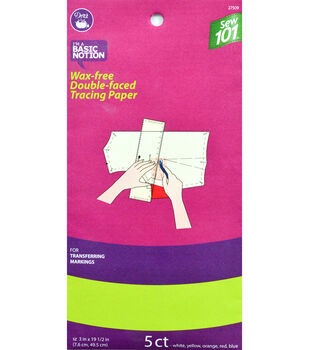 """Dritz 3"""" x 19.5"""" Sewing 101 Wax Free Double Faced Tracing Paper"""