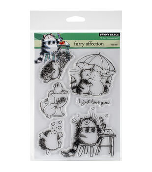 Penny Black Furry Affection Clear Stamp Sheet