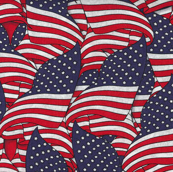 Holiday Inspirations Fabric-Wavy Flags 3