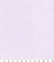 Made in America Cotton Fabric-Pearl Paisley Lilac, , hi-res