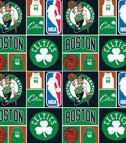 Boston Celtics NBA block Cotton Fabric, , hi-res