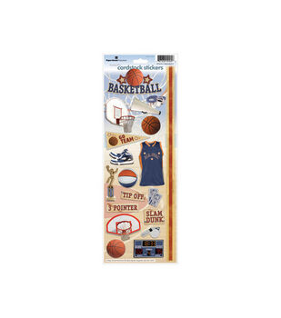 Paper House Cardstock Stickers-Basketball