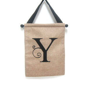 Monogram Door Banner Letter Y