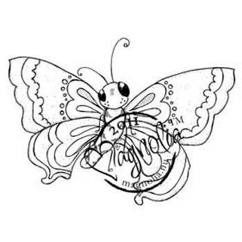 Magnolia Butterfly Dreams Cling Stamp Large Butterfly