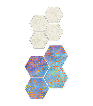 "GO! Fabric Cutting Dies-Paper Piecing Hexagon 1"" Sides"