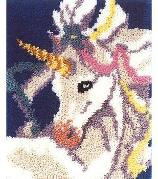 "M.C.G Textiles Latch Hook Kit 15""X18""-Sweet Unicorn"