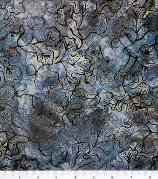 Batik Cotton Fabric-Grape Leaf Steel