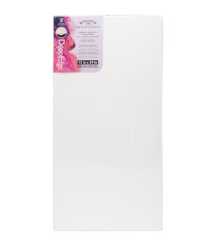 "Winsor & Newton Quality Deep Edge Stretched Canvas-12""X24"""