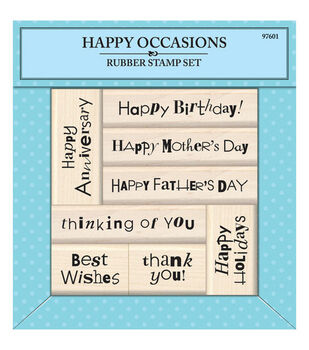 Inkadinkado® Rubber Stamp-Happy Occasions