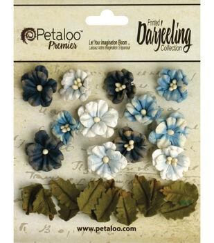 "Darjeeling Teastained Petite Flowers .625"" & .875"" 24/Pkg"