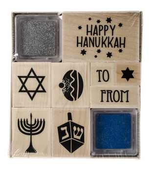 Hero Arts® Mounted Rubber Stamp Set-Happy Hanukkah